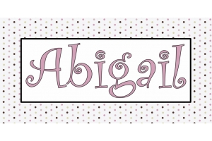 Kids Polka Dot Name Art - 13
